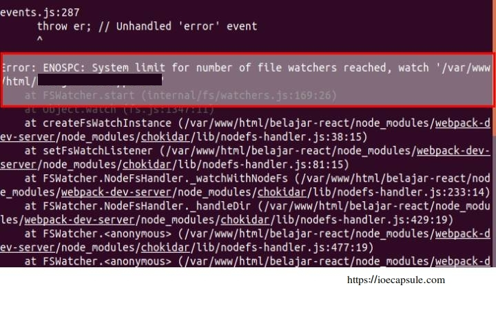 reactjs_system_limit_for_file_watchers_reached